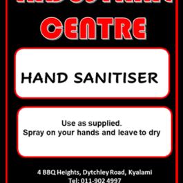 Liquid Hand Sanitiser 70% – 2L