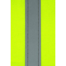 Reflective Tape Lime with Stitched Reflective Silver Strip 55mm