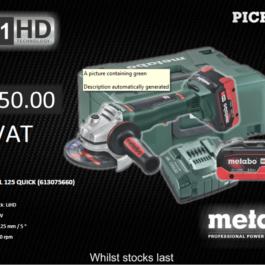 Metabo WPB 18 LTX BL 125 Angle Grinder