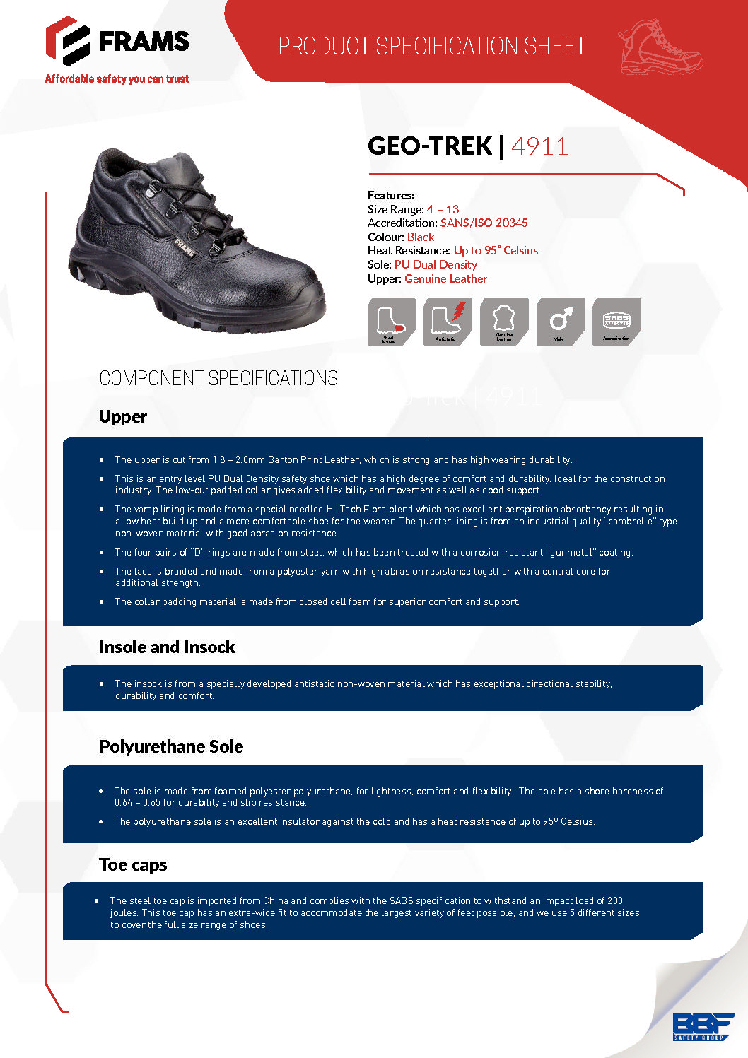Frams Geo-Trak Safety Boot