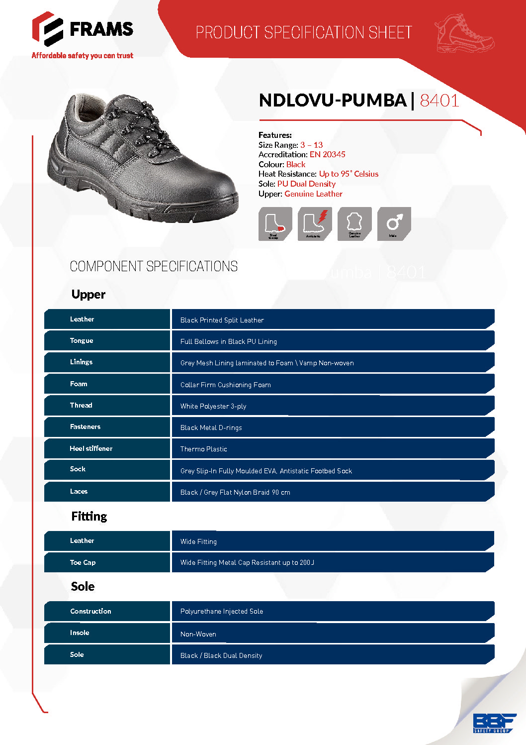 Frams Addo Safety Boot